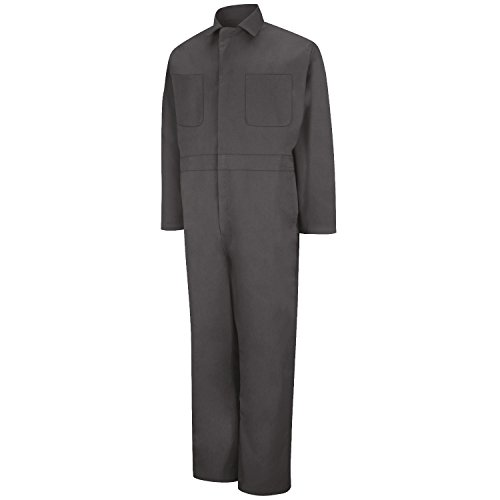 Averill's Sharper Uniforms Men's Industrial Twill Action Back Coveralls 44 Charcoal