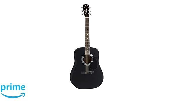 CORT AD810 guitarra acústica de satén de color negro guitarra Folk: Amazon.es: Instrumentos musicales