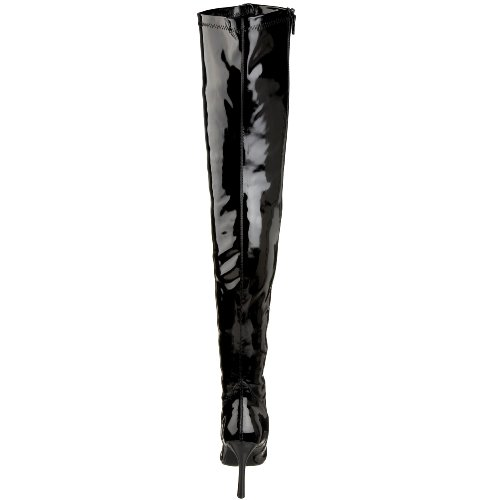 Pleaser Lust-3000, Damen Stiefel & Stiefeletten Nero (Blk Str Pat)