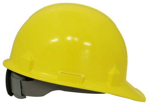 Jackson Safety 14833 SC-6 High Density Polyethylene Hard Hat with 4 Point Ratchet Suspension, Yellow (Pack of 12) by Jackson Safety