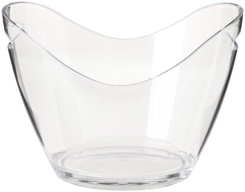 Glass Champagne Bucket - Prodyne G-4-C Vino Gondola Wine Tub, Clear