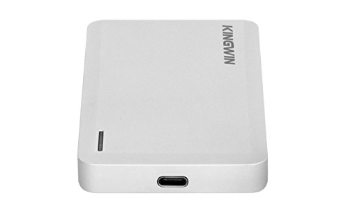 Kingwin SSD Hard Drive Enclosure USB 3.1 [Gen 2] USB C for SATA Based M.2 NGFF B / B+M Key Dual SSD [RAID].  Up to 10 Gbps Transfer Speed, Support UASP, Hot Plug & Play, LED For Access & Power by Kingwin (Image #2)