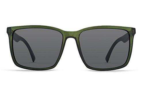 VonZipper Mens Lesmore Sunglasses, Black Bottle Crystal w/Gray Lens, One - Wayfarer Zipper Von