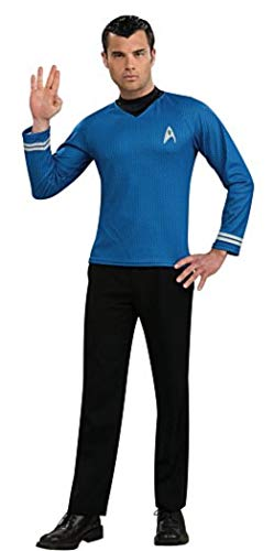 Rubie's Star Trek Into Darkness Spock Shirt With Emblem, Blue, Large