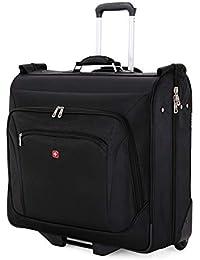 Premium Rolling Garment Bag   Bonus Hanging Feature   Men's and Women's Carry-on Luggage - Black
