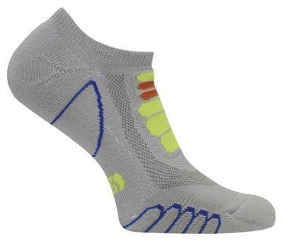 Eurosocks 6409 Silver DryStat Lightweight Ghost Socks, Grey, Large