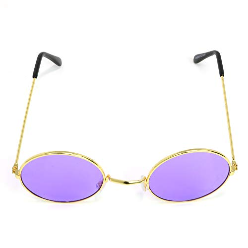 122a224fbb86 Skeleteen John Lennon Hippie Sunglasses - Purple 60's Style Circle Glasses  - 1 Pair