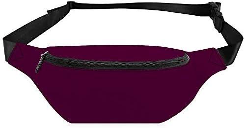 ディープワインソリッド ウエストバッグ ショルダーバッグチェストバッグ ヒップバッグ 多機能 防水 軽量 スポーツアウトドアクロスボディバッグユニセックスピクニック小旅行