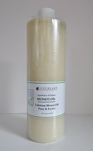 Monoi De Tahiti Oil-100% Natural-16 oz