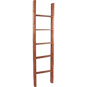 """Ekena Millwork DECR019X072X04LDRRD Decorative Ladder, 19"""" W x 72"""" H x 3 1/2"""" D, Salvage Red"""