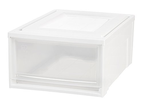 IRIS Medium Box Chest Drawer, White (White Plastic Chest Of Drawers)