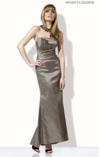 Jessica Mcclintock Dress 53744 Pewter Size 4