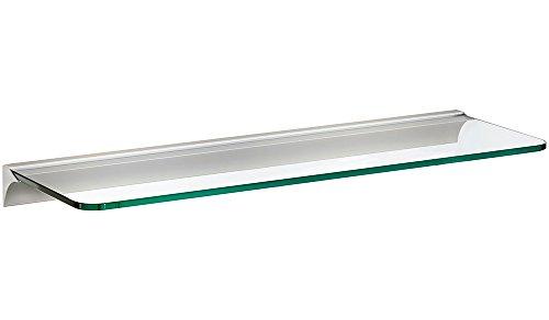 Glasregal / Wandregal Glassline+Rail | 6 Größen | 2 Dekore | 600x200x8 mm - klar/silber