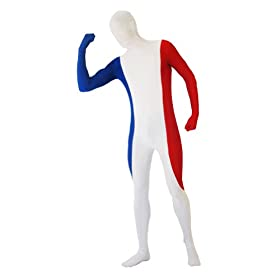 - 31fBTwVF0lL - SecondSkin Men's Full Body Spandex/Lycra Suit with France World Flag Design