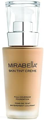 Mirabella Skin Tint Crème Full Coverage Liquid Mineral Foundation - I N, 30ml/1.0 fl.oz