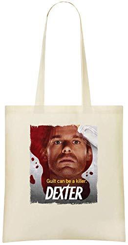 la culpabilité dexter peut être un tueur - dexter guilt can be a killer Custom Printed Grocery Tote Bag - 100% Soft Cotton - Eco-Friendly & Stylish Handbag For Everyday Use - Custom Shoulder Bags