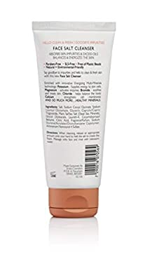 Emilia Face Salt Cleanser - Acne Face Wash Dead Sea Salt Scrub Treatment - Energizing & Exfoliating Face Scrub for Natural Deep Spa Facial - Paraben-Free & SLS-Free with Natural Minerals