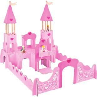 Chad Valley Wooden Fantasy Castle With Figures