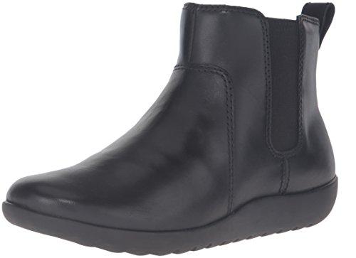Clarks Women's Medora Grace Boot, Black Leather, 8.5 M US (Boots Ankle Women Clarks)