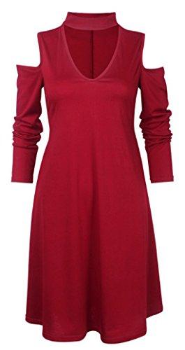 erdbeerloft - Vestido - Opaco - para mujer Rojo