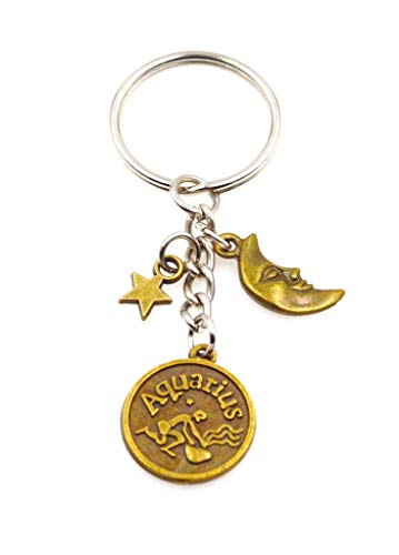 (It's All About...You! Zodiac Sign Moon & Star Keychain Key Chain Aquarius 108W)