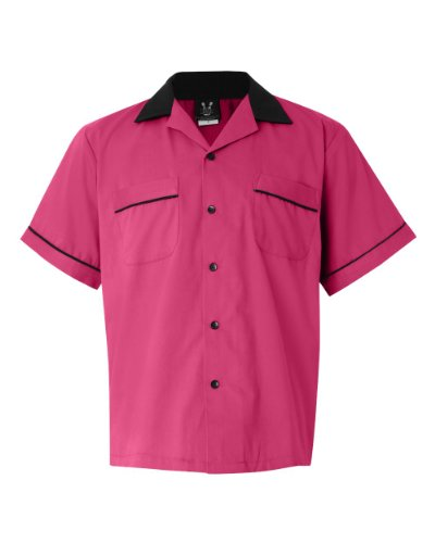 Hilton Bowling Retro Gm Legend (Pink_Black) (XL) Legend Bowling Shirt