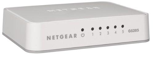 NETGEAR GS205 - Switch - unmanaged - 5 x 10/100/1000 - deskt