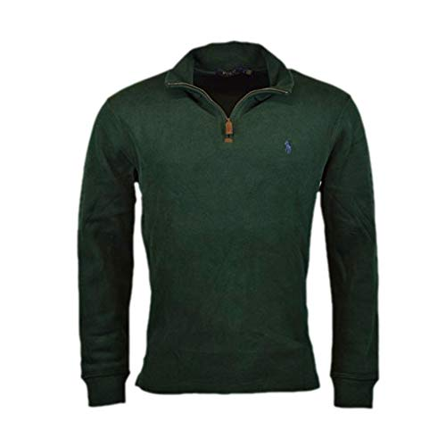 2987aa7f0b527b Polo Ralph Lauren Mens Half Zip French Rib Cotton Sweater (Medium