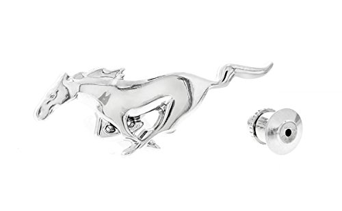 - Ford Genuine Mustang Pony All Chrome Lapel Pin