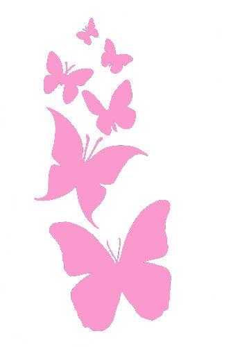 CCI Butterflies Butterfly Decal Vinyl Sticker|Cars Trucks Vans Walls Laptop| Pink |6.75 x 3 in|CCI1585