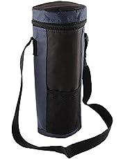 Dreafly Vattenflaska kylväska isolerad hållare bärväska isolerad hållare bärväska isolerad kylväska – resa vadderad dryck bärväska med handtag och justerbar axelrem för resor