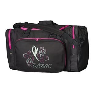 "Sassi Designs Glitter Girl Dance 22"" Black Duffel Bag"