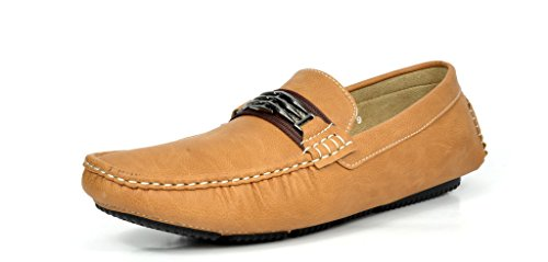 Mens Casual Dress Boat - Bruno Marc Moda Italy KENDO-01 Men's Classy Fashion On The Go Driving Casual Loafers Boat Shoes Tan Size 14