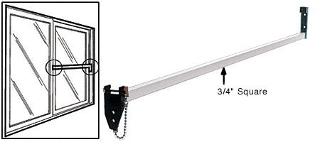 Defender Security S 4220 Sliding Door Security Bar Lock, 48-Inch, Extruded  Aluminum, white, Pack of 1 - Screen Door Hardware - Amazon.com - Defender Security S 4220 Sliding Door Security Bar Lock, 48-Inch