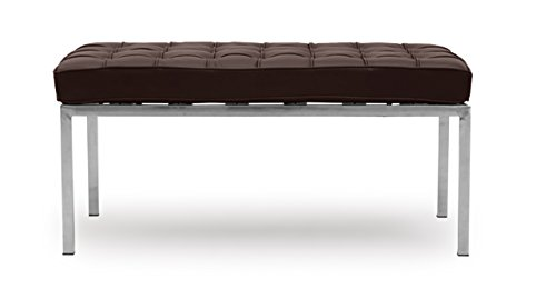 Kardiel Florence Knoll Style Bench 2 Seater, Choco Brown Premium ()