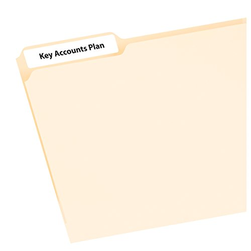 Avery Mini-Sheets Labels, 3.4735 x 0.66 Inches, White, 300 per Pack ()