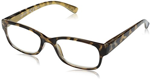 Sight Station Women's Heather 1016952-150.COM Square Reading Glasses, Golden Tortoise, 1.5 (Sight Station)