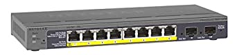 NETGEAR GS110TP-200EUS ProSAFE (8-Port Gigabit POE Smart Managed Switch mit 2 Gigabit Fibre SFP)