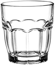 Bormioli Rocco Rock Bar Stackable Juice Glasses – Set Of 6 Dishwasher Safe Drinking Glasses For Soda, Juice, Milk, Coke, Bee