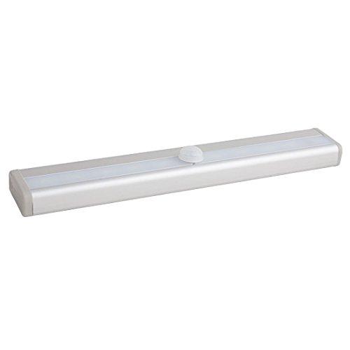 eDealMax 3 piezas de pilas con sensor de movimiento PIR 10 LED de luz del armario gabinete de escaleras del cuerpo humano del sensor de la lámpara amarillo ...