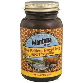 Montana Naturals Bee Pollen W-Royal Jelly & Propolis 90 (Royal Jelly 90 Caps)