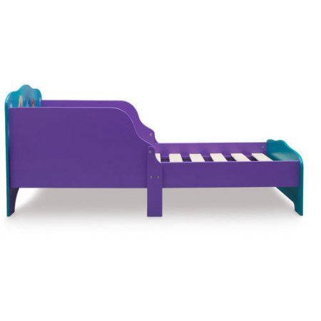 Disney Frozen Wood Toddler Bed with 2 Built-In Side Guardrails and 6 Legs for Extra Support and Sturdiness