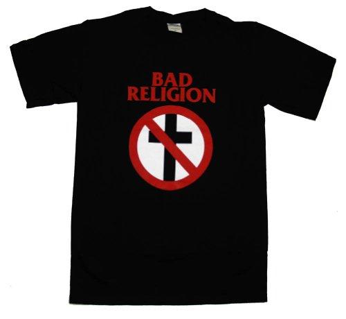 Bad Religion Crossbuster Logo Punk Rock Band Adult T-Shirt Tee