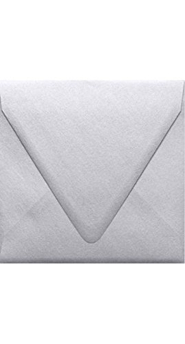 6 1/2 x 6 1/2 Square Contour Flap Envelopes - Silver Metallic (50 Qty) | Perfect for Invitations, Announcements, Greeting Cards, Photos | 1855-06-50 (Save The Date Announcements For Corporate Events)