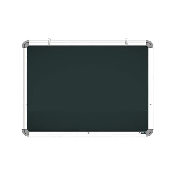 YAJNAS Non Magnetic 1.5x2 Feet Double Sided White Board and Chalk Board Both Side Writing Boards, one Side White Marker and Reverse Side Chalk Board Surface - Pack of 1 7