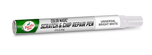 Turtle Wax 50759 Color Magic Scratch and Chip Repair Pen, Universal Bright White (Best Car Wax For White Paint)