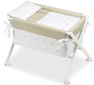 Bimbi Romantic–vestidura Baby, Farbe Weiß und Leinen