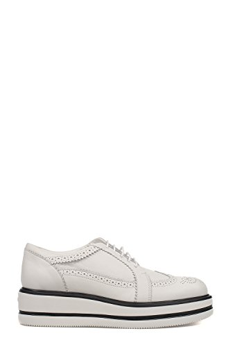 Hogan Mujer HXW3230X670DU0B001 Blanco Cuero Zapatos De Cordones