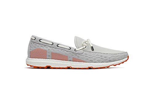 SWIMS Breeze Leap Laser Loafer, Light-Weight, Flexible, Breathablein Light Gray/White/Orange, Size ()