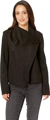 Anne Klein Women's Asymmetrical Front Jacket Anne Black Medium ()